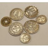 Collection of Chinese coins.