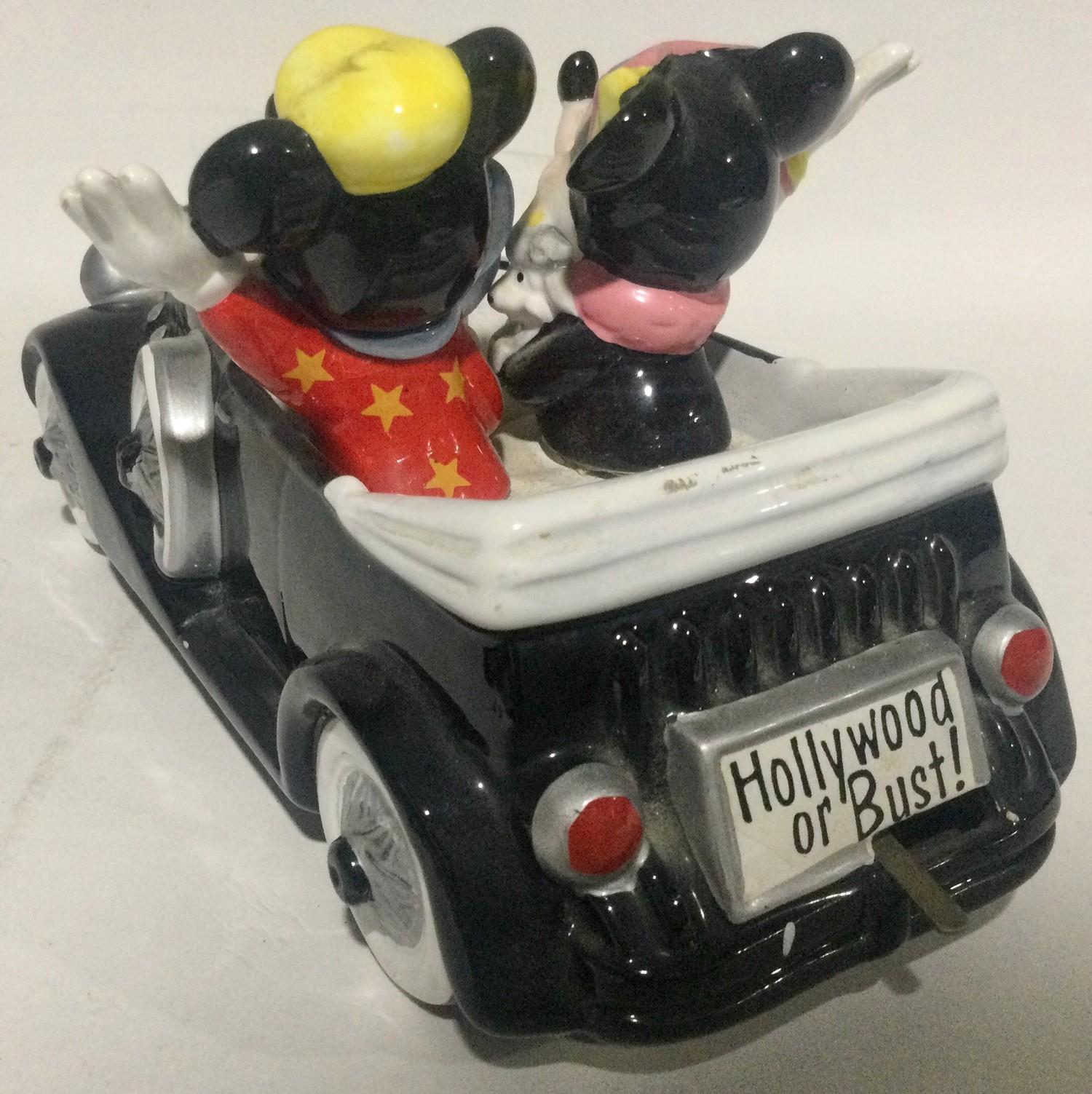 Walt Disney Micky Mouse musical car ,Beswick dauchund dog and a medina glass dish - Image 8 of 10