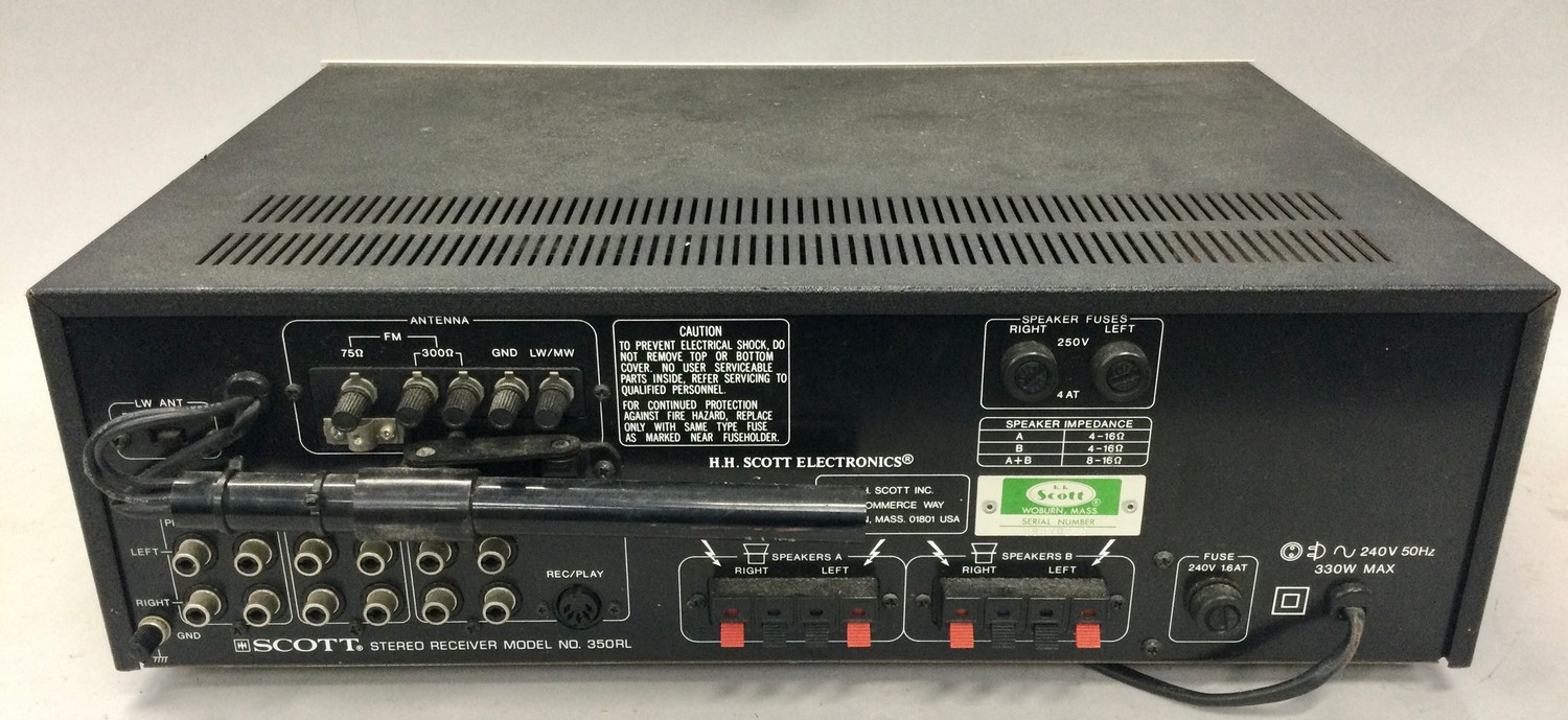 SCOTT AMPLIFIER. Model number 350RL. Power output: 40 watts per channel into 8? (stereo) from 1989 - Image 2 of 2