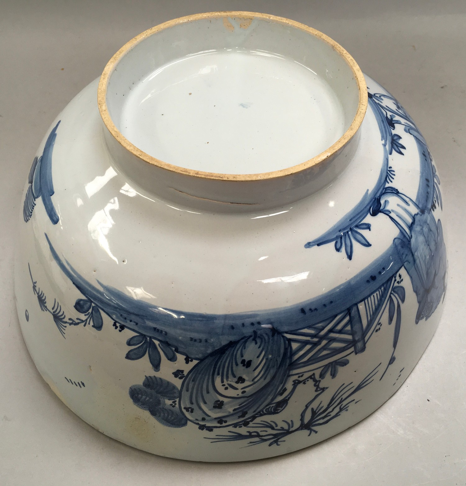 """Blue & White Chinese bowl possibly from the Qing period 11.5"""" diameter. - Image 6 of 7"""