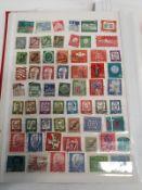 Red album German stamps