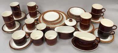 Poole pottery collection of ?Chestnut Brown? dinnerware approx 50 pieces.