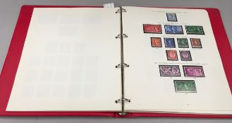 Red album of G.B. stamps