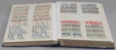 Blue album of GB stamps
