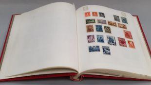 "Red album of Bulgaria stamps ""304"""