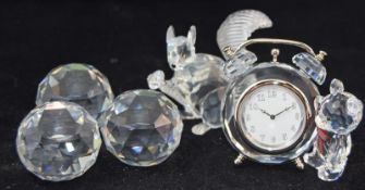 Swarovski crystal Kris Bear table clock code 212687, together a 10th anniversary limited edition