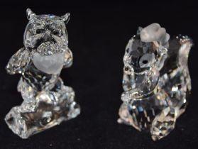 Swarovski Crystal Disney Bambi's friend Owl, code 943953, together with Flower the little Skunk code