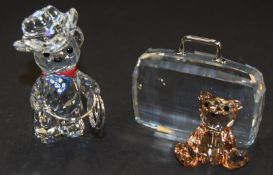 Swarovski Crystal Teddy Bear with Suitcase code 296338 together with Kris Bear Johnny the Cowboy
