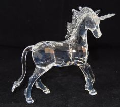 Swarovski Crystal Unicorn, code 630119 retired, boxed with paperwork.