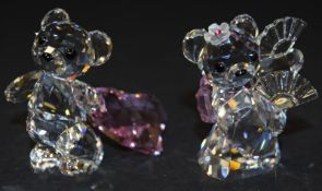 Swarovski Crystal Kris Bear of the World Kumiko code 883414 together with Kris Bear with Pink