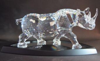 Swarovski Crystal large rare limited edition The Rhinoceros code 945461 / 9100 000 116 retired, c/