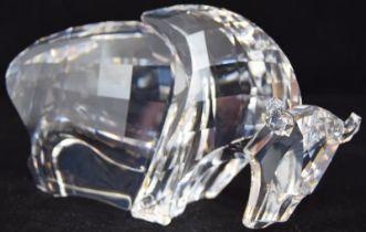 Swarovski Crystal Symbols Buffalo, code 624598 retired, boxed with paperwork.