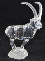 Swarovski Crystal Ibex from the Endangered Species Collection, code 275439 retired, boxed with