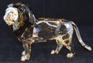 Swarovski Crystal Society Lion Akili, code 5135894 retired, boxed with certificate of Authenticity &