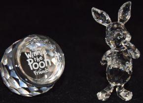 Swarovski Crystal Disney Piglet, code 905771 together with Winnie the Pooh honey pot plaque code