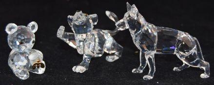 Swarovski Crystal German Shepherd code 235484, together with Lion Cub code 210460, Kris Bear code