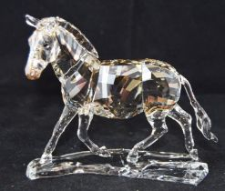 Swarovski Crystal Zebra from the Rare Encounters collection, code 1050853 retired, boxed with