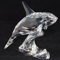 Swarovski Crystal Orca / killer whale code 622939 retired, boxed with paperwork.