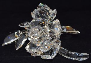 Swarovski Crystal large roses code 890285 retired, boxed with paperwork.