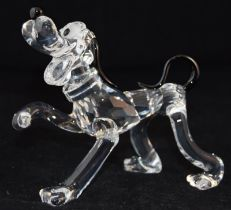 Swarovski Crystal Disney Pluto, code 692344 from the Disney Showcase collection, retired, boxed with