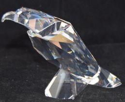 Swarovski Crystal Symbols Eagle, code 624599 retired, boxed with paperwork.