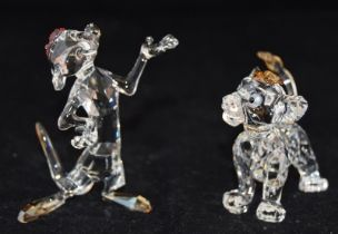 Swarovski Crystal Disney Lion King Simba code 1048304, together with Timon code 1050963, retired,