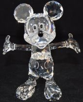 Swarovski Crystal Disney Mickey Mouse, code 687414, retired, boxed with paperwork.