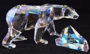 Swarovski Crystal Society Siku Polar Bear, code 1053154 retired, boxed with all relevant paperwork &
