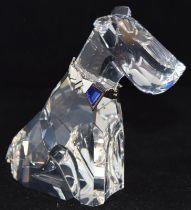 Swarovski Crystal Symbols Dog/terrier, code 289202 retired, boxed with paperwork.