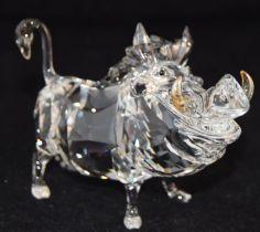 Swarovski Crystal Disney Lion King Pumba, code 1049784, retired, boxed with paperwork.