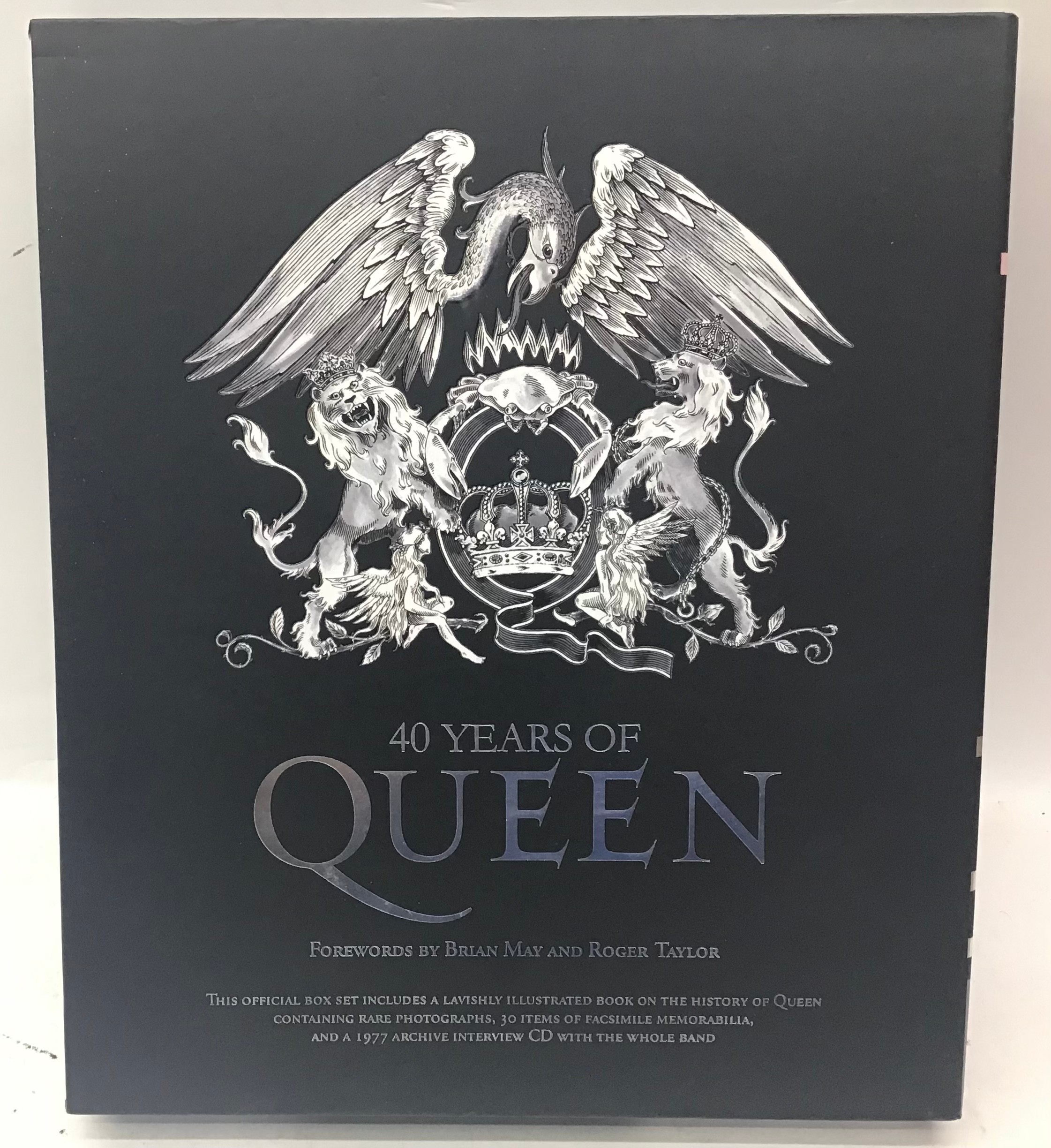 40 YEARS OF QUEEN. The book showcases the band, its members, recordings and concerts through