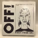 Off! First Four EPs box set released in 2010 on Vice records No. VCA 800217 and found in Ex