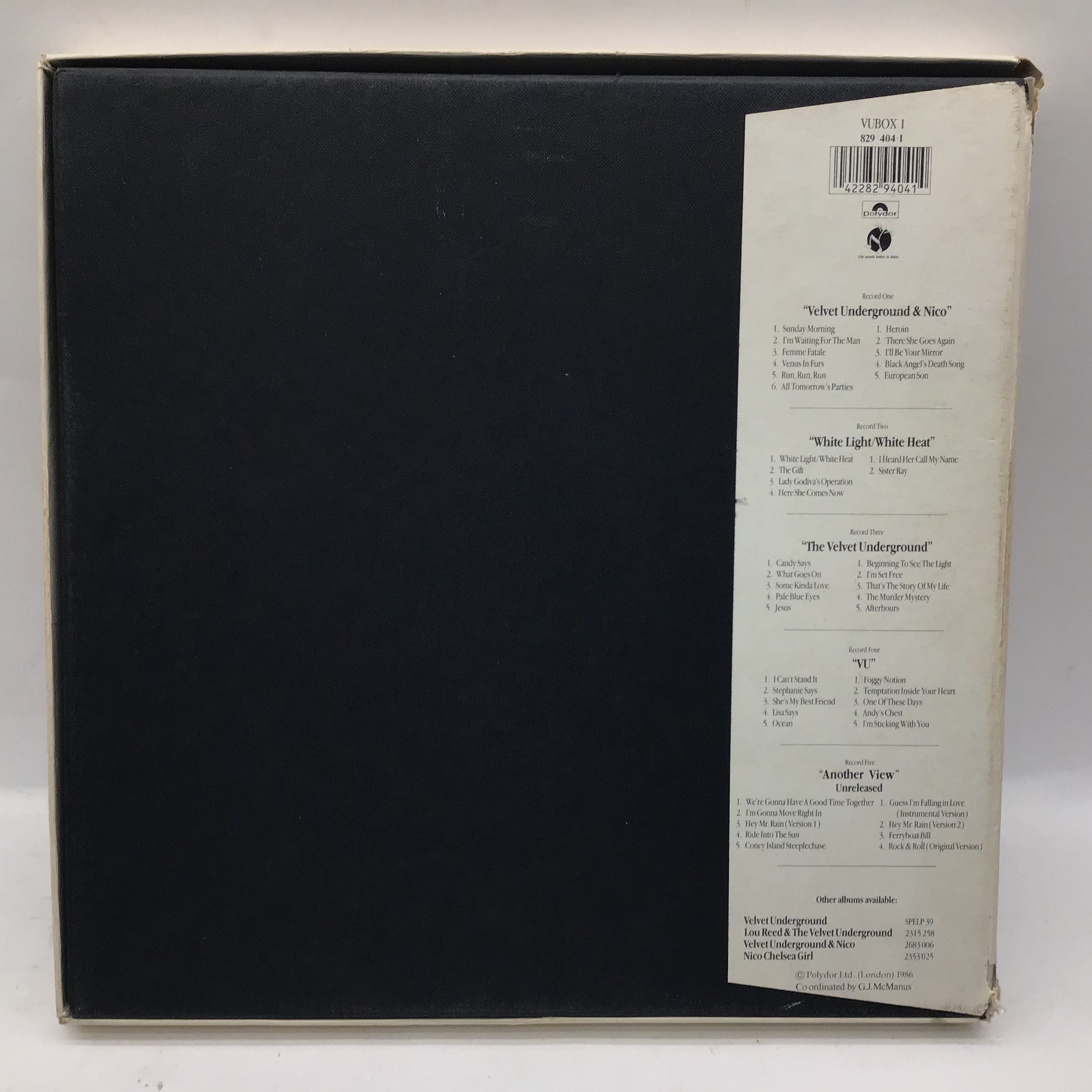 The Velvet Underground Vinyl 5 LP Box Set from 1986 complete with booklet and info sheet. Found here - Image 2 of 7