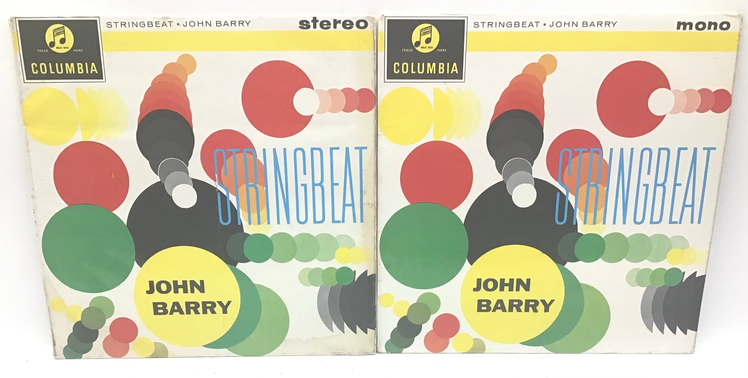 JOHN BARRY VINYL LP RECORDS. Here we have a mono and stereo copy of ?Stringbeat? on Columbia SCX
