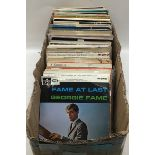 Large box of various 50?s and 60?s extended play vinyl records. Genre?s to include Folk - Pop - Jazz