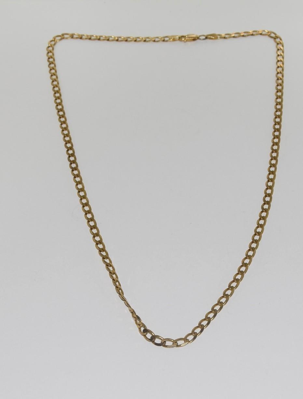 9ct gold flatlink chain 52cm long 10gm