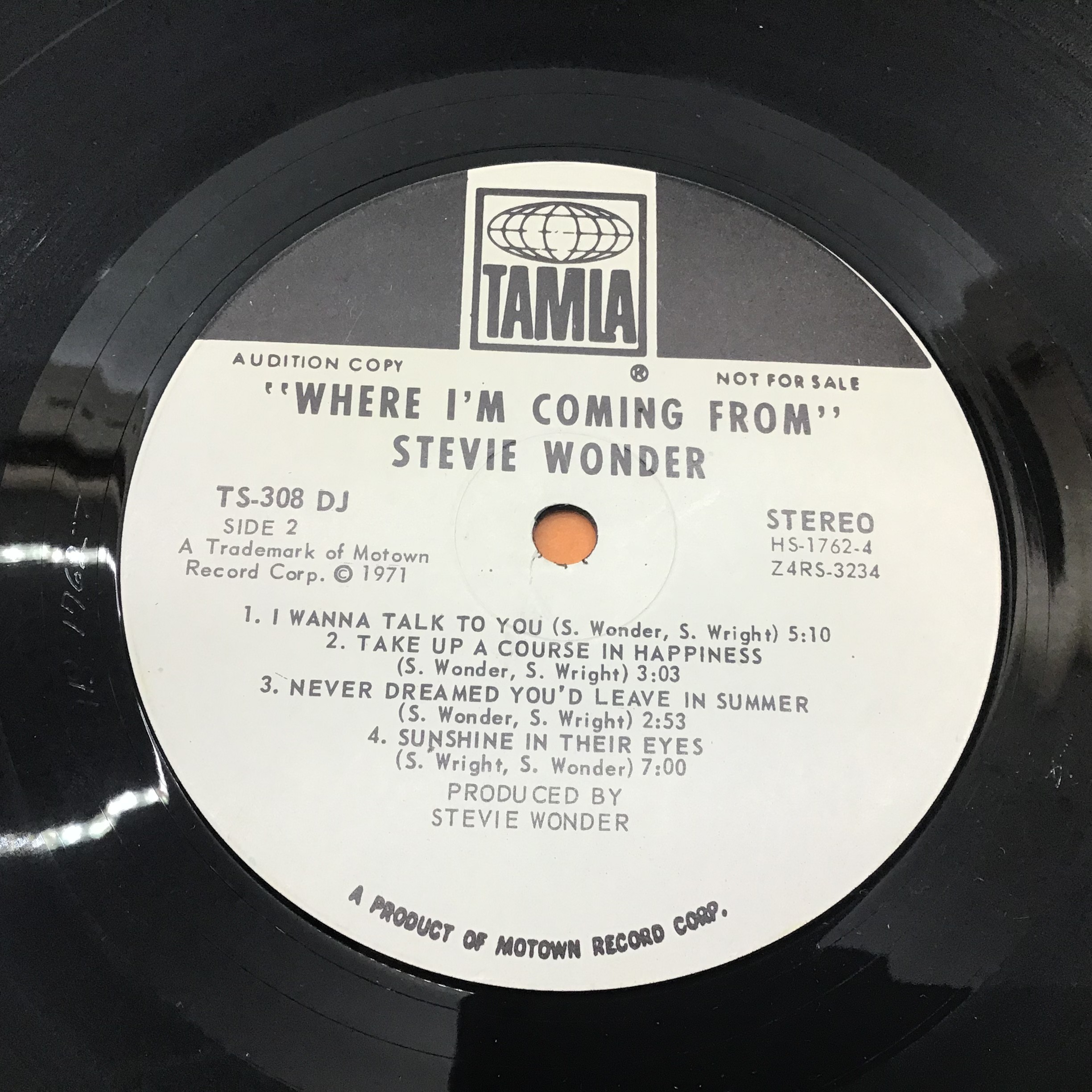 STEVIE WONDER VINYL LP RECORDS X 7. Found here in VG+ conditions with a demo copy of ?Where I?m - Image 5 of 5