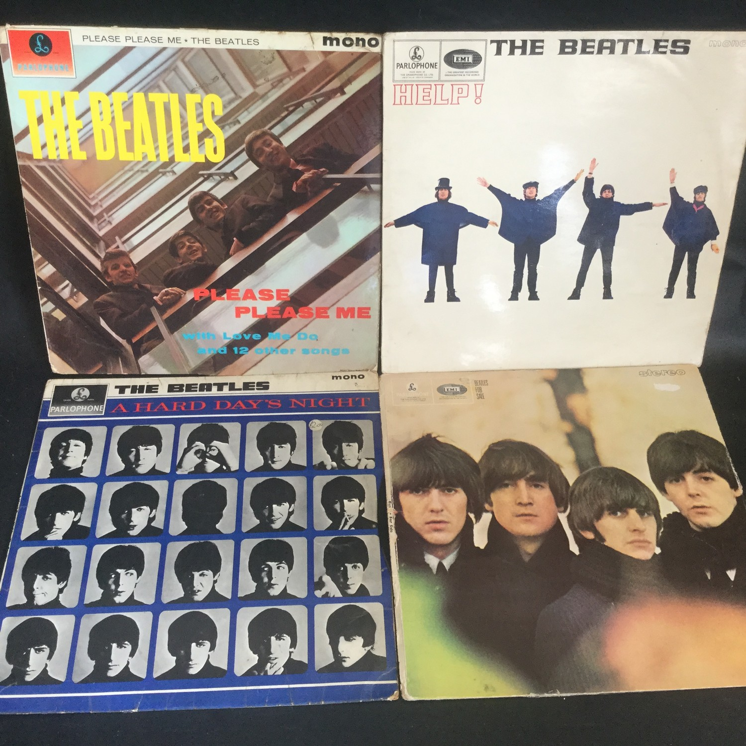 CARRY CASE OF VARIOUS BEATLES ALBUMS. We have 19 in total here with single & multiple copies of - Image 2 of 2