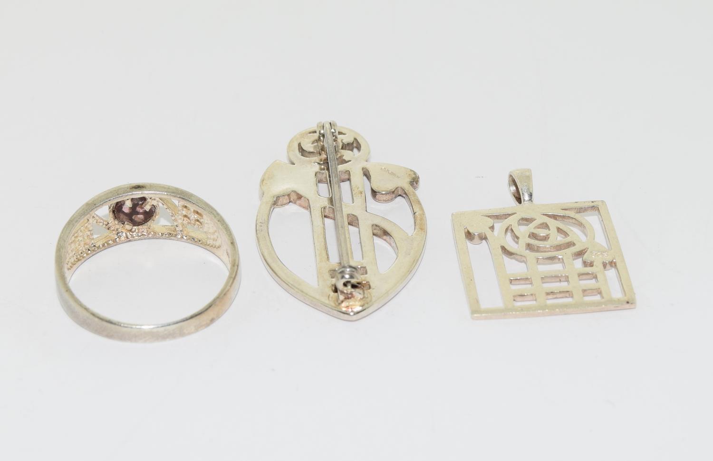 Trio of Macintosh Scottish silver items - Image 3 of 3