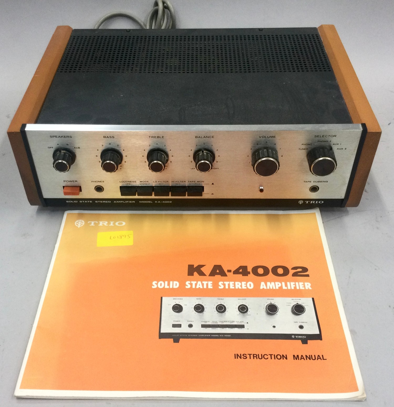 TRIO KA-4002 AMPLIFIER. Built in the early seventies this Trio was way ahead of its time with the