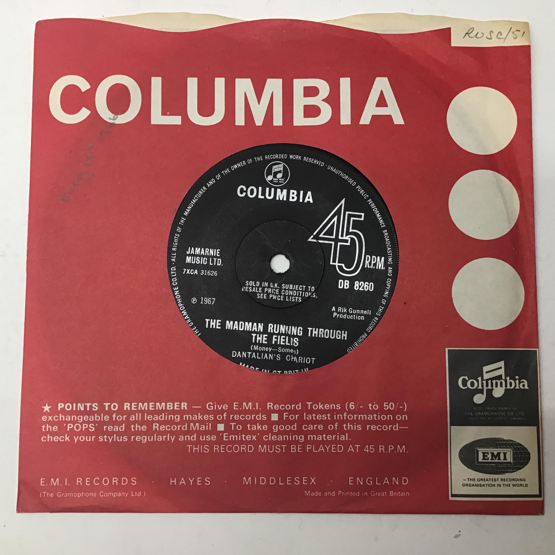 DANTALIAN'S CHARIOT 7? psych single vinyl record. ?The Madman Running Through The Fields? on