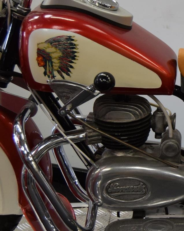 Lenaerts Indian Motorcycle Arcade Ride fully restored 1950 child's ride. Made by Edwin Hall & Co - Image 6 of 8