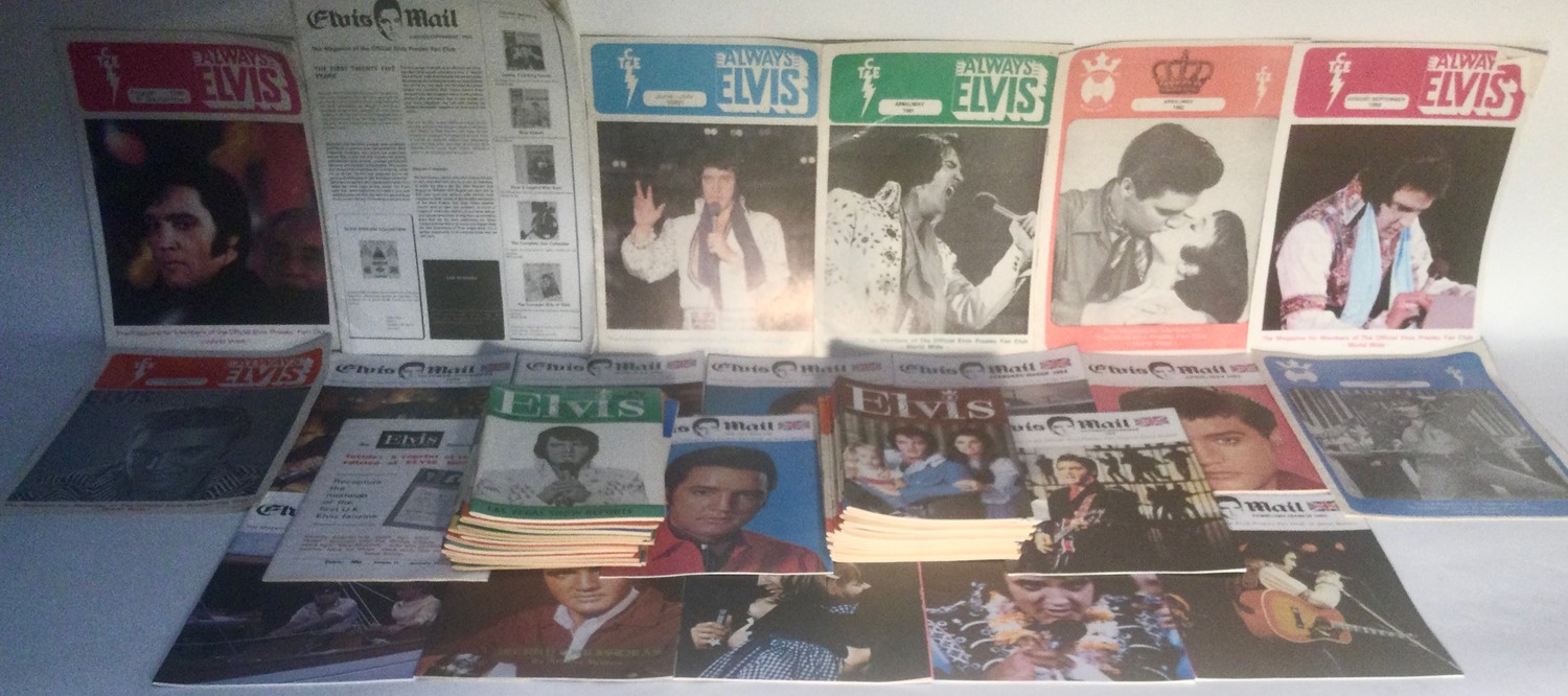 ELVIS PRESLEY COLLECTION OF FAN MAGAZINES. 13 copies of Elvis Mail mags - 27 copies of Elvis - Image 4 of 4