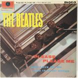 BEATLES - BLACK AND GOLD ?Please Please Me? LP vinyl record. Found on the Parlophone label PMC