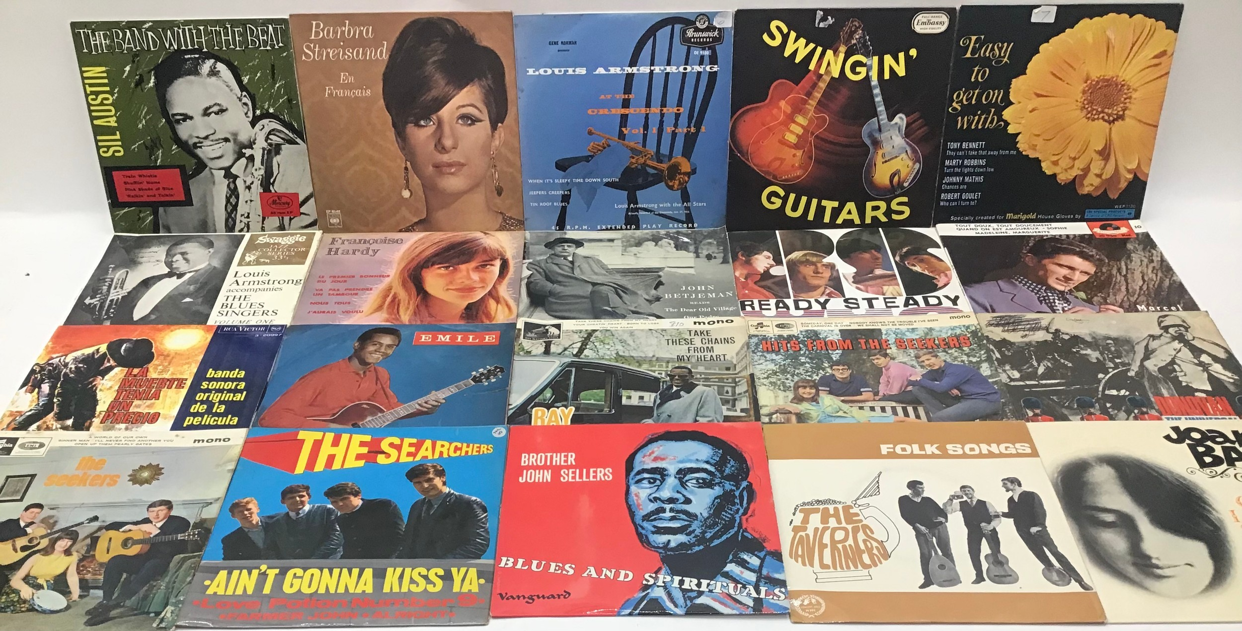 Selection of 20 E.P. RECORDS RELATING TO THE 50?s & 60?s. To include - The Who - Joan Baez - The