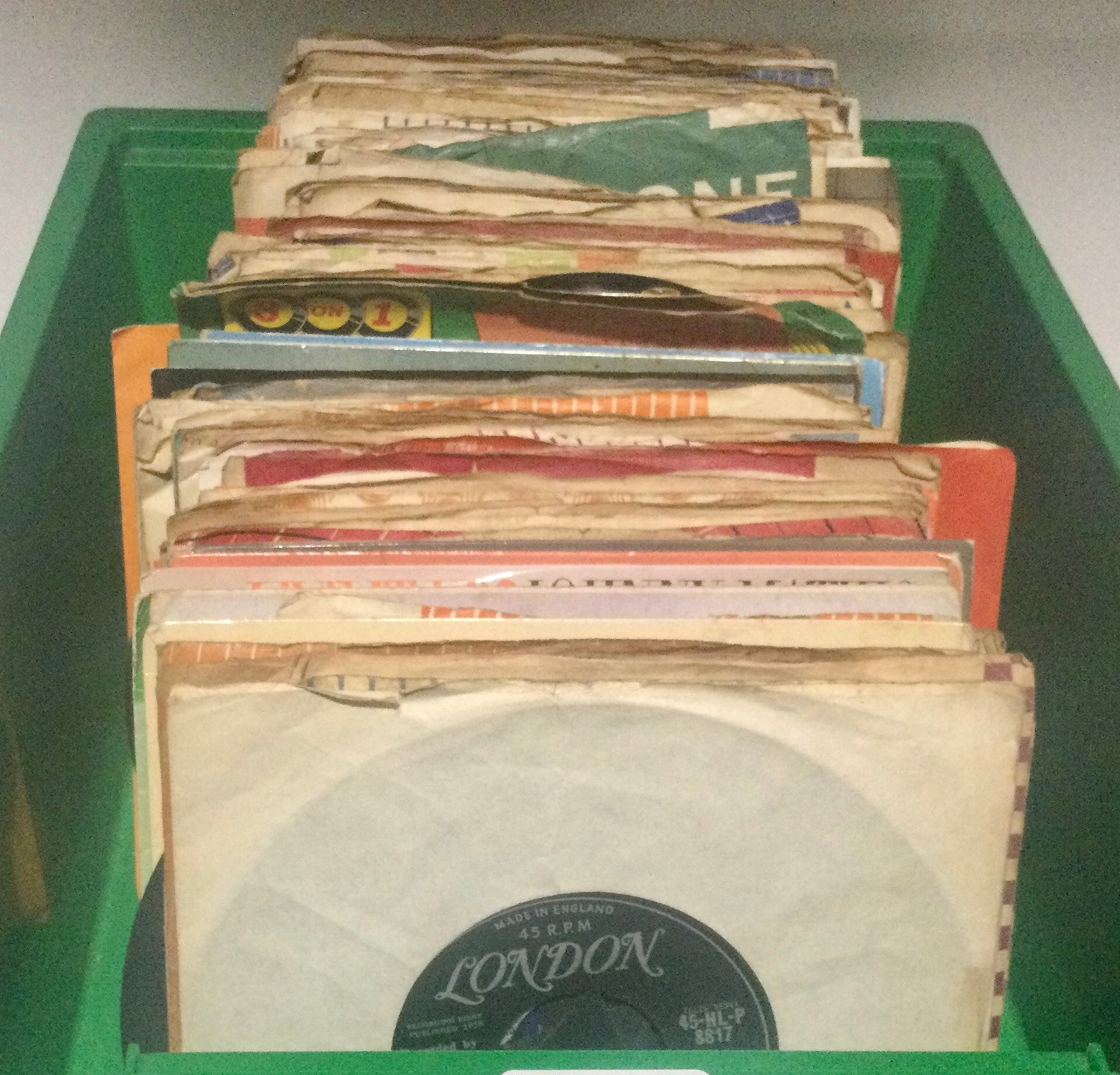 """Collection of 7"""" vinyl singles. Mainly from the 1960's to include artist's - Ricky Nelson - Them -"""