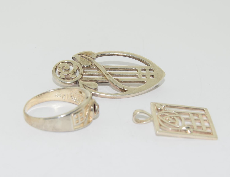Trio of Macintosh Scottish silver items - Image 2 of 3