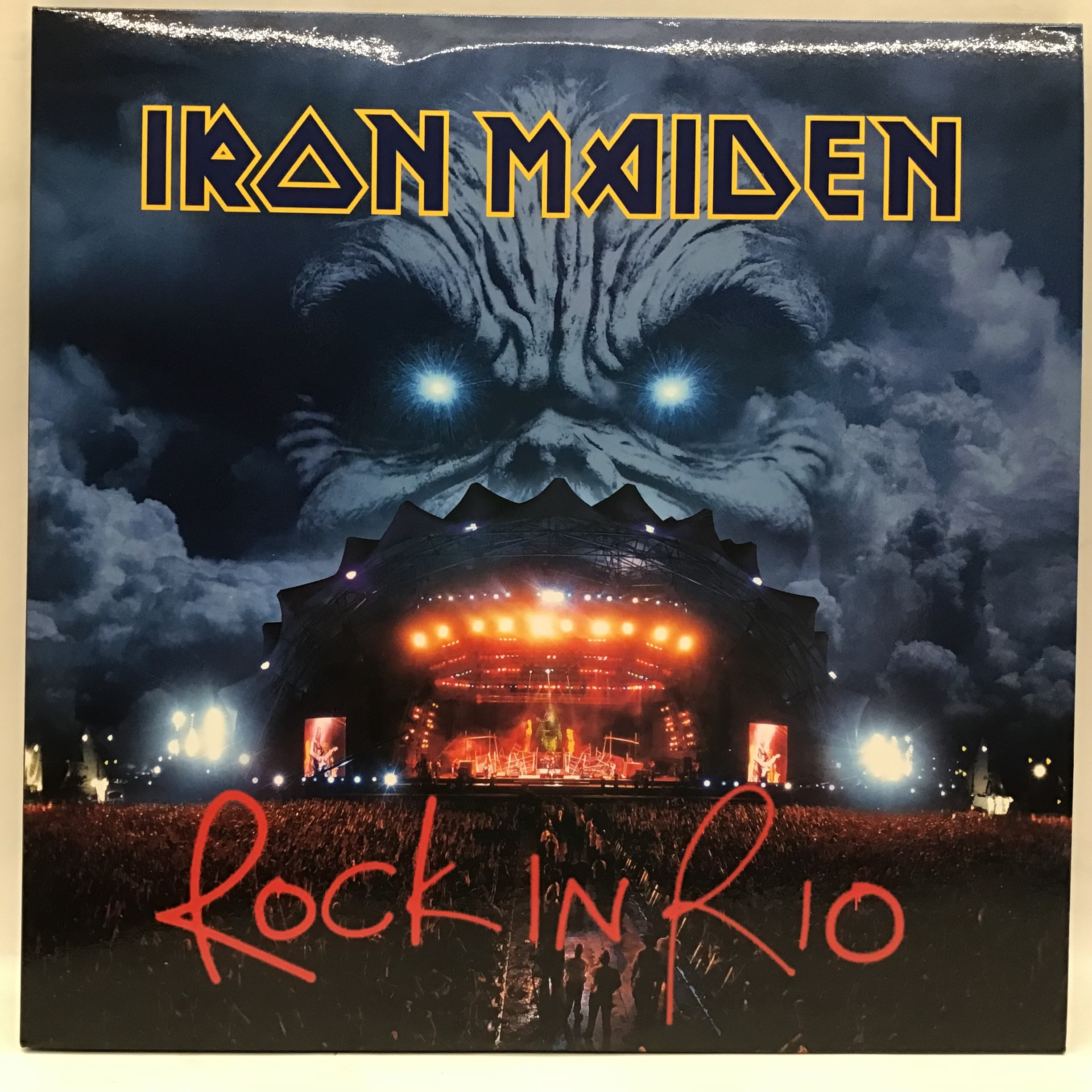 IRON MAIDEN Rock In Rio (3LP 180g Vinyl, 2015) Condition is as new.