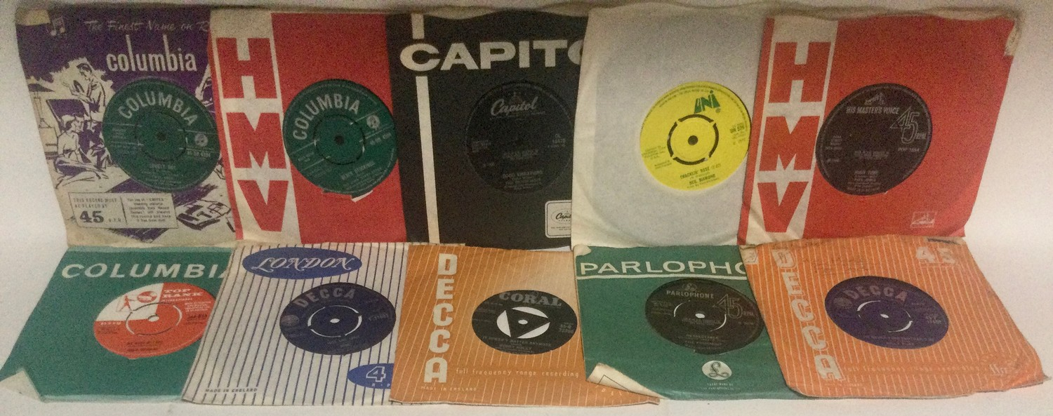 """Collection of 7"""" vinyl singles. Mainly from the 1960's to include artist's - Ricky Nelson - Them - - Image 3 of 3"""