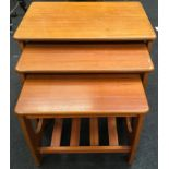 1960s nest of 3 tables in the G plan style 50x60x40cm largest